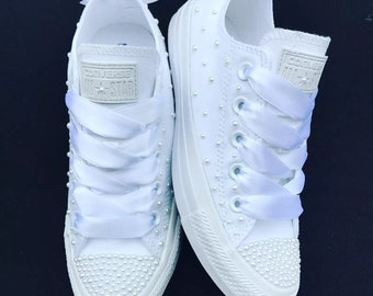 0974055acbabd5 wedding bridal customised converse