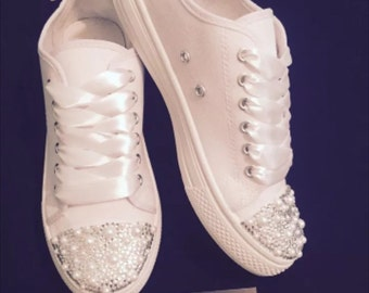Wedding bridal customised trainers pumps 9cc6e5c30547