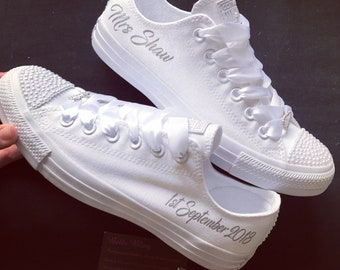 Wedding bridal customised converse e49cb8a63dc1