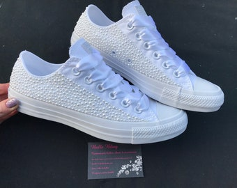 8d972a3cd52a06 Wedding bridal customised converse