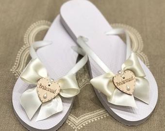 ddaeacbd4c55 Wedding flip flops
