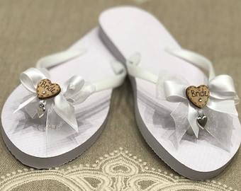 255cb9389055e0 Wedding flip flops