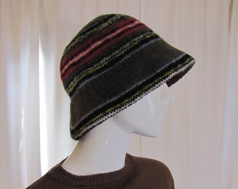 1960 S Princess Mary Scottish Felted Wool Bucket Hat 45440f805834