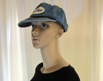 e17482c30a0 1970 s Blue Cotton Sports Hat with Carrier Patch
