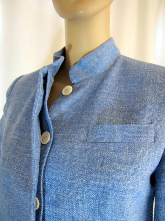 1990's Prada Wool Blend Mandarin Style Jacket, Sm… - image 5