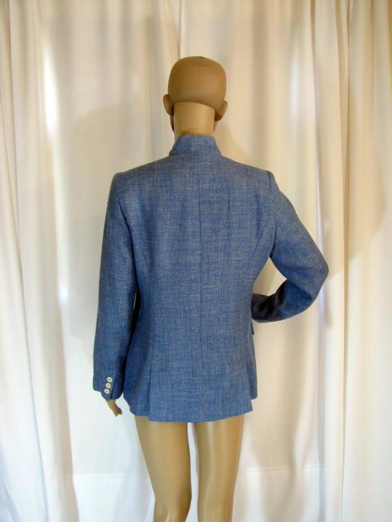 1990's Prada Wool Blend Mandarin Style Jacket, Sm… - image 9
