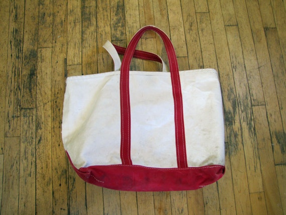 Miraculous 1980S Ll Bean Red On White Canvas Boat And Tote Bag Large Ll Bean Tote Bag Boat And Tote Canvas Bag Tote Red 80S 1980S Bean Beatyapartments Chair Design Images Beatyapartmentscom