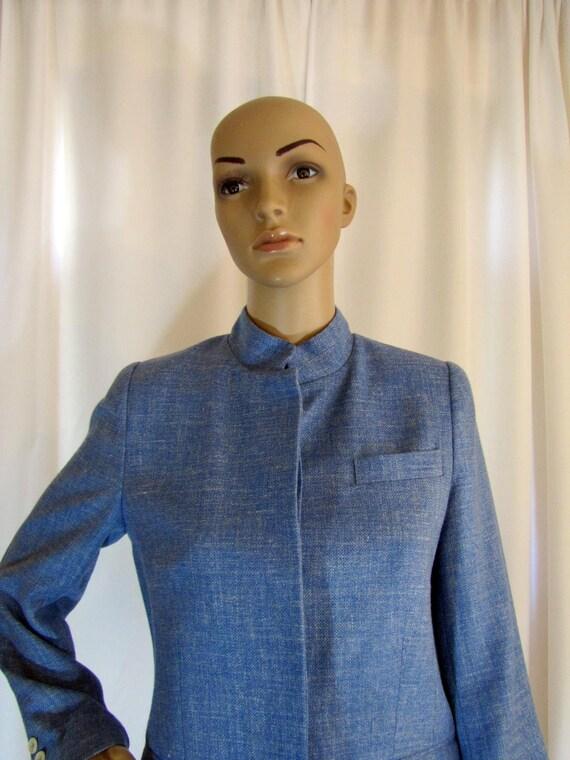 1990's Prada Wool Blend Mandarin Style Jacket, Sm… - image 1
