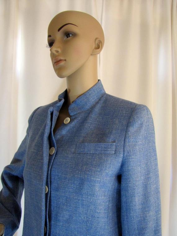 1990's Prada Wool Blend Mandarin Style Jacket, Sm… - image 4