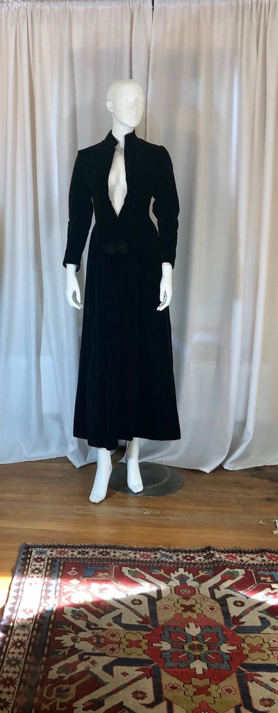Edwardian Dramatic Maxi Dress Coat, Women's Extra