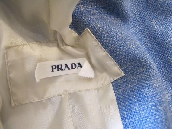 1990's Prada Wool Blend Mandarin Style Jacket, Sm… - image 7