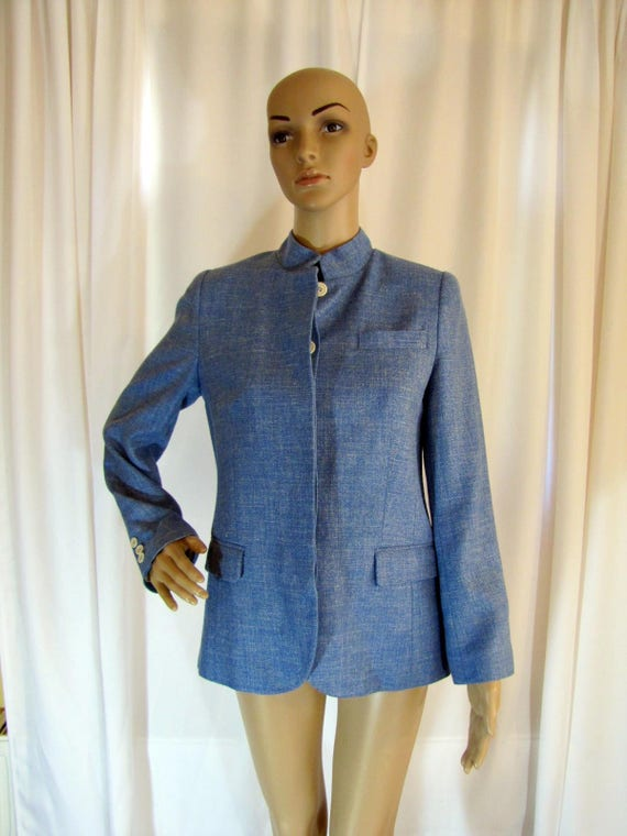 1990's Prada Wool Blend Mandarin Style Jacket, Sm… - image 3