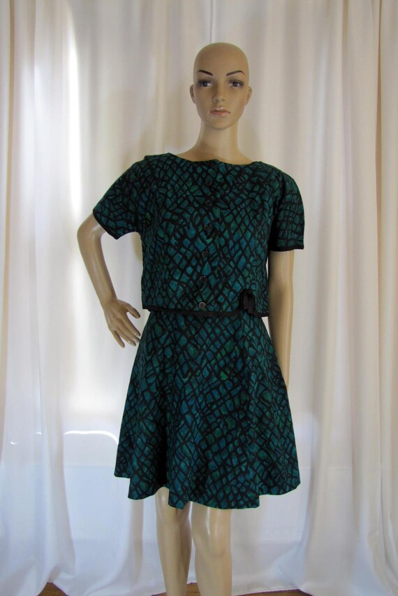 1960's Lord and Taylor A-Line Mini Dress and Jacke
