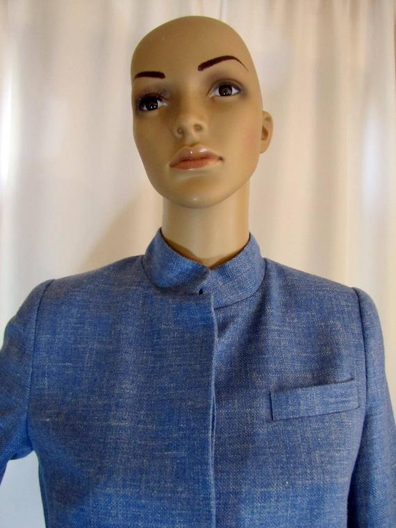 1990's Prada Wool Blend Mandarin Style Jacket, Sm… - image 2