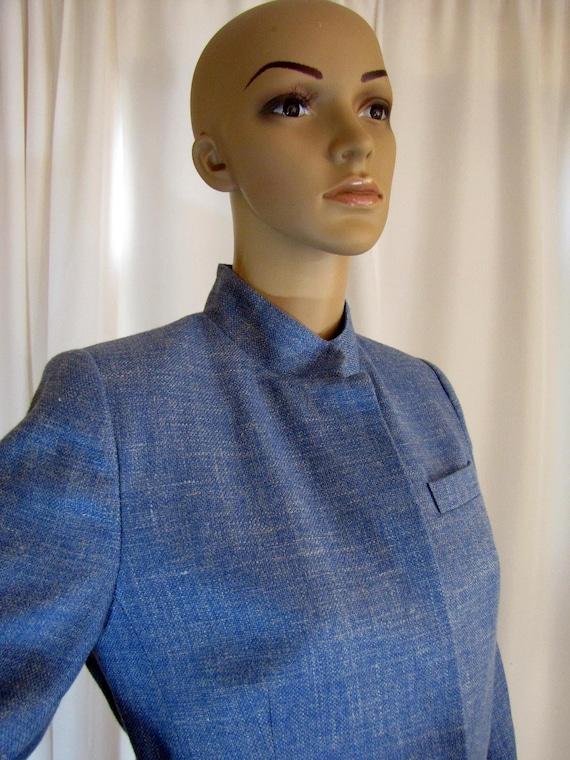 1990's Prada Wool Blend Mandarin Style Jacket, Sm… - image 6