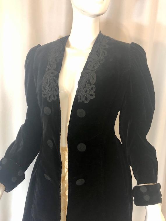 Edwardian Velvet and Soutache Riding Coat , Women'