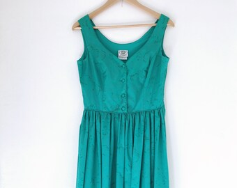 Laura Ashley, Super Cute Turquoise Green Summer/Occasion dress