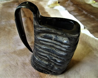 Drinking Horn mug, Viking drinking mug, Celtic drinking mug, Mead mug, Horn cup, horn mug, Thanksgiving, Halloween, Yule
