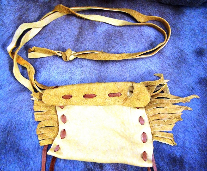 Leather bag leather pouches sheep leather bag tribal bag image 0