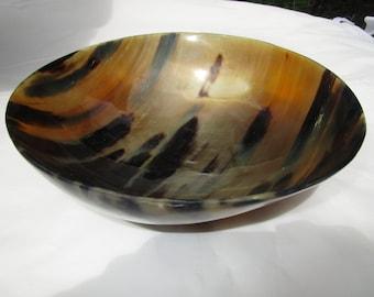 Horn bowl, horn dishes, water buffalo horn, buffalo horn bowl