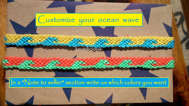6fae7b71c7807 Ocean Wave Friendship Bracelet | Ocean Jewelry | Ocean Wave Anklet | Summer  Bracelet | String Bracelet | Surfer Bracelet | Wave bracelet