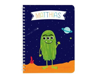 Personalized Space Alien Monster Notebook