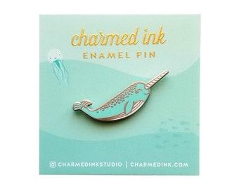 Narwhal Pin - Hard Enamel Badge