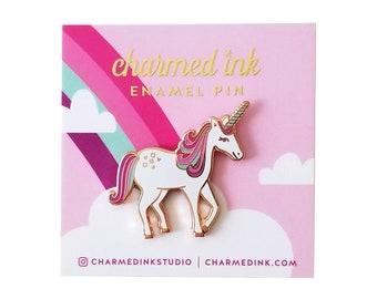 Magical Unicorn Pin - Hard Enamel Badge