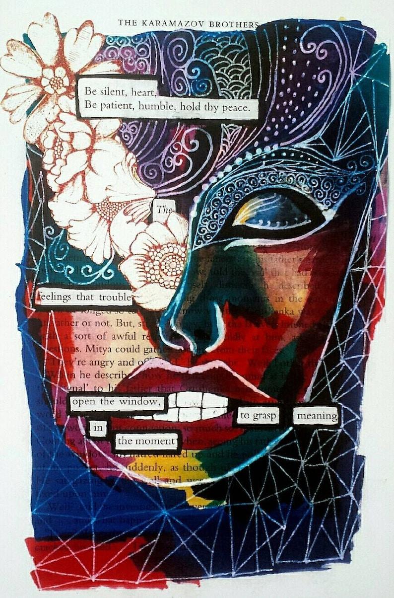 Black out poem print  Transformation image 0