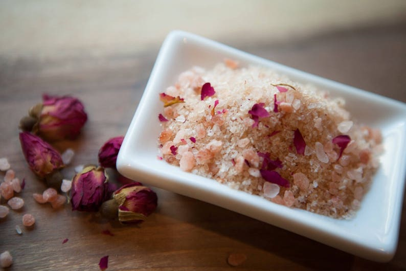 MSM Theraputic Bath Salt  Rose & Rosewood  Essential Oil Bath Salt for  detoxing, soften, sooth skin with psoriasis condition