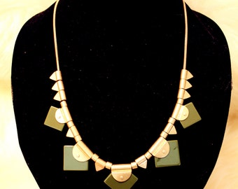 Spike Metal and Stone Mix Necklace