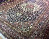Rug Sale 11.4 x 7.6 ft Turkish vintage rug 345 x 230 cm room sized semi antique carpet 11 x 8 ft persian style midcentury