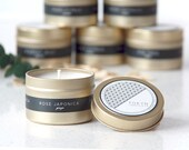 Gold Tin GINZA (Rose Japonica) Scented Soy Candle - Gift