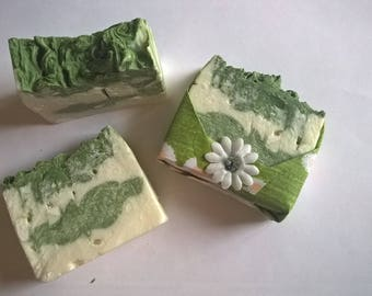 Whipped Lime & Patchouli Soap, cocoa butter, shea butter, olive oil, luxurious, cold process
