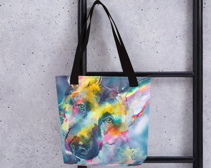 German Shepherd Dog Art Tote bag purse