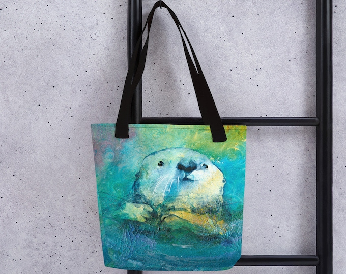 Sea Otter Art Tote bag