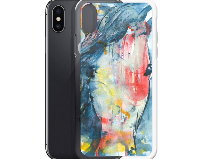 Horse Watercolor Art iPhone Case