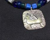 Vintage Hand  Made Peruvian Bird Design Necklace