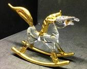 Glass Rocking Horse Ornament