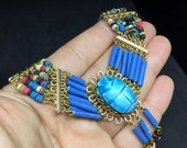 Vintage Egyptian Scarab N...