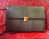 Vintage Leather Clutch Bag Envelope Bag