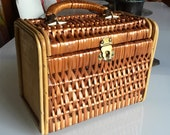 Vintage Rattan Wicker Box Handbag
