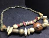 Vintage Wood Necklace