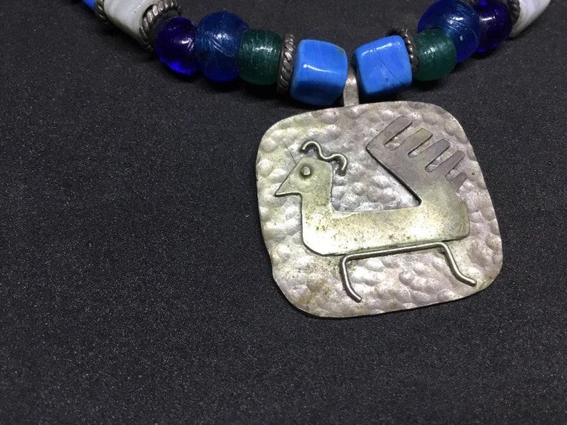 Vintage Hand  Made Peruvian Bird Design Necklace image 0