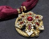Velvet  Victorian Necklace