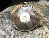 Vintage Abalone Silver Pendant