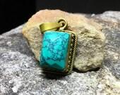 Turquoise Pendant Vintage