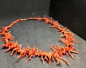 Organic Red Coral Necklace