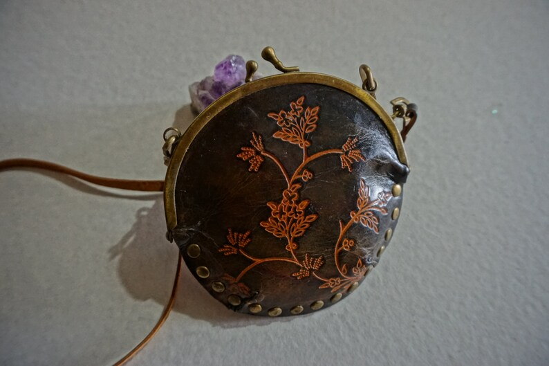 Small Bag Vintage Embosed Leather Purse