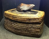 Rare  Lombok Indonesian Woven Basket